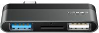 USB-хаб Usams Type-C Mini USB / US-SJ463 (серый) -