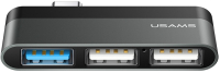 USB-хаб Usams Type-C Mini USB / US-SJ462 (серый) -