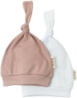 Набор шапочек для младенцев Amarobaby Nature / AB-OD20-NV16/35-56 (бежевый/белый, р. 56) -
