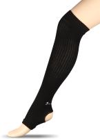 Гетры для художественной гимнастики Indigo Компрессионные ЛВ3 (70см, черный) -