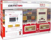 Игровая приставка Retro Genesis 8 Bit HD Wireless + 300 игр / ConSkDn77 (белый/красный) -