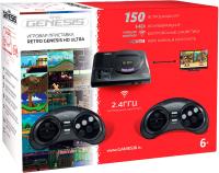 Игровая приставка Retro Genesis Sega HD Ultra + 150 игр + 2 джойстика / ConSkDn70 (черный) -