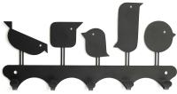 Ключница настенная KN Птички (черный) -