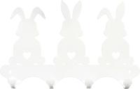 Ключница настенная KN Зайчики (белый) -
