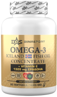 Жирные кислоты Binasport Омега-3 N60 (высокой концетрации, 1620мг) -