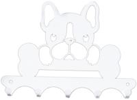 Ключница настенная KN Собака (белый) -