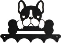 Ключница настенная KN Собака (черный) -