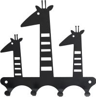 Ключница настенная KN Жирафы (черный) -