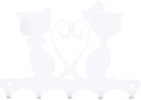 Ключница настенная KN Влюбленные коты (белый) -