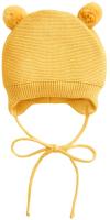 Шапочка для младенцев Amarobaby Pure Love Pompony / AB-OD21-PLP16/04-40 (желтый, р-р 40-42) -