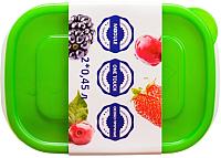 Набор контейнеров Good&Good SREC 2-1 (зеленый) -