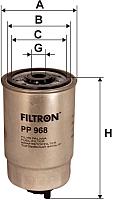 Топливный фильтр Filtron PP968 -