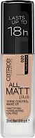 Тональный крем Catrice All Matt Plus Shine Control Make Up выравнивающий тон 020 (30мл) -