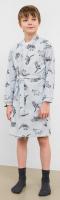 Халат детский Mark Formelle 553301 (р.104-56, дино на светло-сером) -