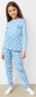 Пижама детская Mark Formelle 567722 (р.104-56, зайки на голубом) -
