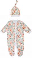 Комплект одежды для новорожденных Amarobaby Soft Hugs Лисички / AB-OD20-SHL301/00-62 (белый, р. 62) -