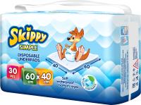 Набор пеленок одноразовых детских Skippy Simple 40x60 (30шт) -