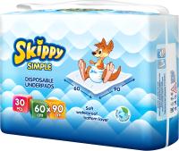 Набор пеленок одноразовых детских Skippy Simple 60x90 (30шт) -