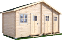 Хозблок деревянный Лесково ХБ 6.0x3.0 -