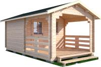 Дачный дом Лесково ДСВ 3.0x3.0 (с верандой 2.5м) -
