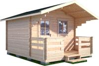 Дачный дом Лесково ДСК 3.0x4.0 (с навесом и крыльцом) -
