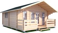 Дачный дом Лесково ДСК 5.0x5.0 (с навесом и крыльцом) -