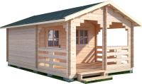 Дачный дом Лесково ДСВ 4.0x5.0 (с верандой 2.5м) -