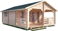 Дачный дом Лесково ДСВ 5.0x5.0 (с верандой 2.5м) -