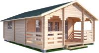 Дачный дом Лесково ДСВ 6.0x6.0 (с верандой 2.5м) -