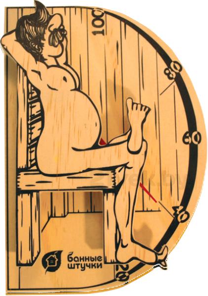 Купить Термометр для бани Банные Штучки, В здоровом теле-здоровый дух (18003), Россия, дерево