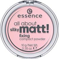 Фиксирующая пудра для лица Essence All About Silky Matt! Fixing Compact Powder тон 10 (10г) -