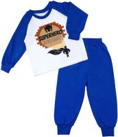 Пижама детская Amarobaby Superheroes Cloak / AB-OD21-SC11/20-80 (синий, р. 80) -