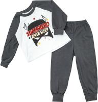 Пижама детская Amarobaby Superheroes Mask / AB-OD21-SM11/11-80 (серый, р. 80) -