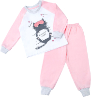 Пижама детская Amarobaby Superheroes Muuur night / AB-OD21-SM11/06-104 (розовый, р. 104) -