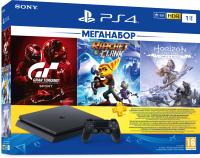 Игровая приставка PlayStation 4 1Тб + HZD CE/GTSII/R&C / PS719702399 (PS+3M) -