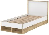 Односпальная кровать Интерлиния SC-К90 90x200 (дуб золотой/белый платинум) -