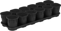 Набор горшков для рассады Plastic Republic Smart Solution / ING6034 ЧР -