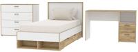 Комплект мебели для спальни Интерлиния Scandi-1 (дуб золотой/белый платинум) -