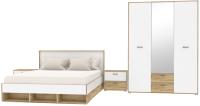 Комплект мебели для спальни Интерлиния Scandi-2 (дуб золотой/белый платинум) -