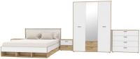 Комплект мебели для спальни Интерлиния Scandi-3 (дуб золотой/белый платинум) -
