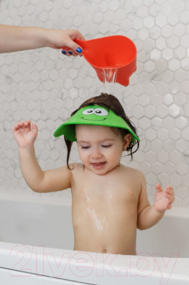 Козырек для мытья головы Roxy-Kids Зеленая ящерка / RBC-492-G