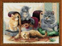 Набор для вышивания Риолис Кошачье семейство / 1327 -