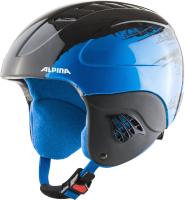 Шлем горнолыжный Alpina Sports 2021-22 Carat / A9035-66 (р-р 54-58, черный/синий) -