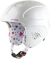 Шлем горнолыжный Alpina Sports 2021-22 Carat / A9035-62 (р-р 51-55, белый/Deco) -