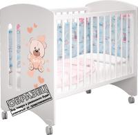 Детская кровать-трансформер MLK Софи (белый/банни) -