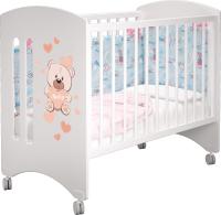 Детская кровать-трансформер MLK Софи (белый/мишка) -