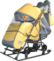 Санки-коляска GalaXy Liberi (желтый) -