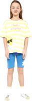 Пижама детская Mark Formelle 567730 (р.104-56, желтая полоска/синий) -