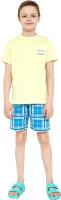 Пижама детская Mark Formelle 563318 (р.116-60, лайм/клетка на синем) -