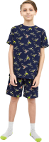 Пижама детская Mark Formelle 563318 (р.104-56, монстры на мотоциклах) -